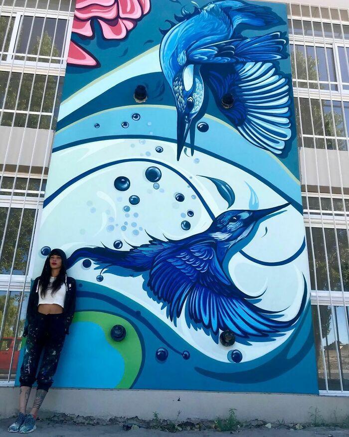 32 edifícios decorados com hipnotizantes murais de vida selvagem 31