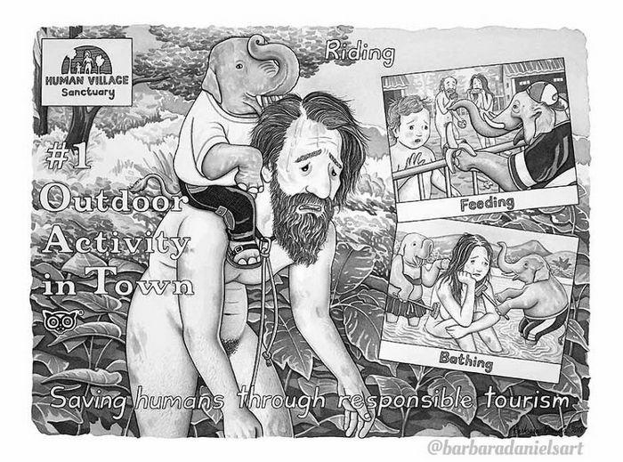 Esta artista critica a maneira como tratamos nosso mundo com suas ilustrações instigantes (40 fotos) 8
