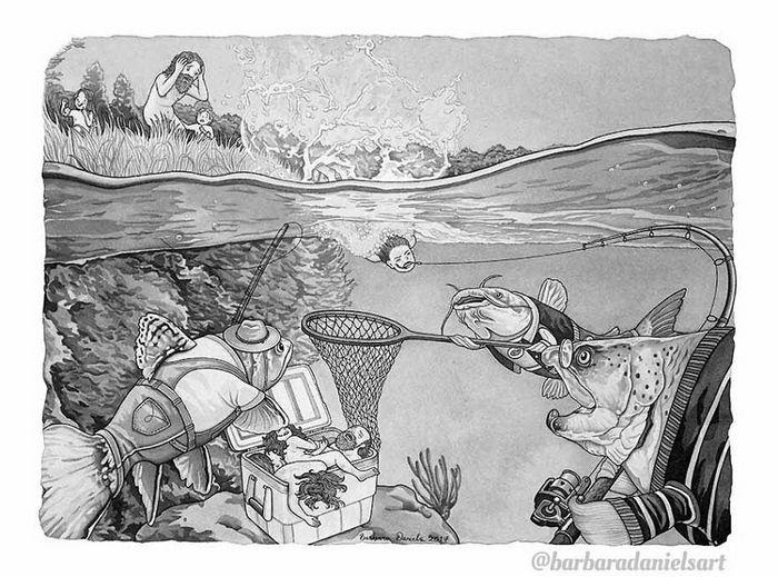Esta artista critica a maneira como tratamos nosso mundo com suas ilustrações instigantes (40 fotos) 11