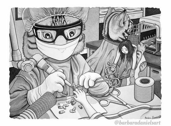 Esta artista critica a maneira como tratamos nosso mundo com suas ilustrações instigantes (40 fotos) 15