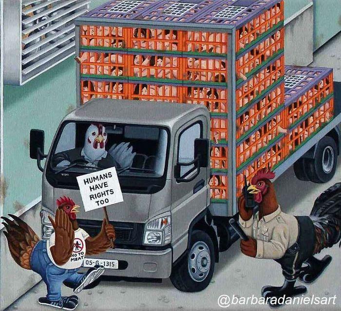 Esta artista critica a maneira como tratamos nosso mundo com suas ilustrações instigantes (40 fotos) 19