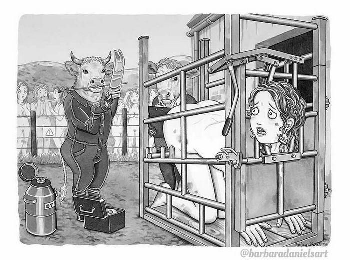 Esta artista critica a maneira como tratamos nosso mundo com suas ilustrações instigantes (40 fotos) 20