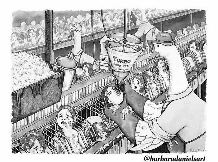 Esta artista critica a maneira como tratamos nosso mundo com suas ilustrações instigantes (40 fotos) 22