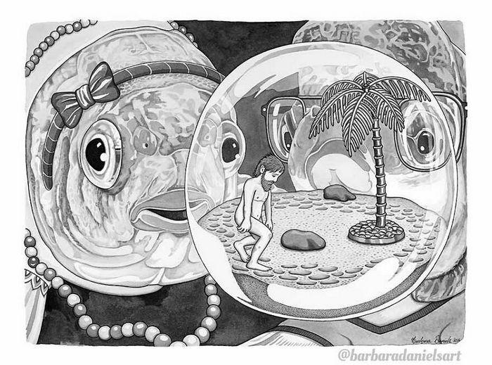 Esta artista critica a maneira como tratamos nosso mundo com suas ilustrações instigantes (40 fotos) 24