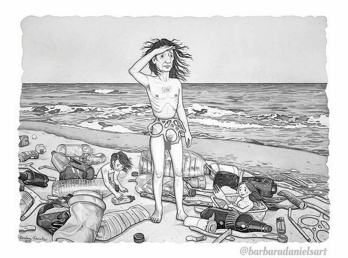 Esta artista critica a maneira como tratamos nosso mundo com suas ilustrações instigantes (40 fotos) 31