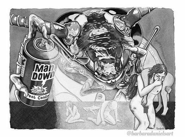Esta artista critica a maneira como tratamos nosso mundo com suas ilustrações instigantes (40 fotos) 33