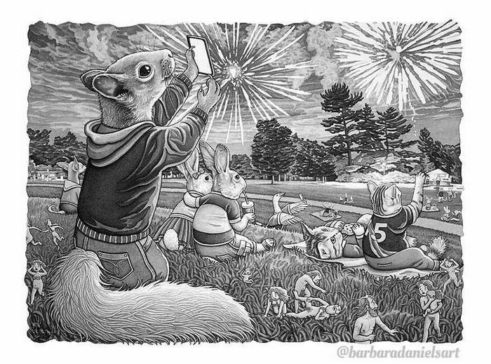 Esta artista critica a maneira como tratamos nosso mundo com suas ilustrações instigantes (40 fotos) 40