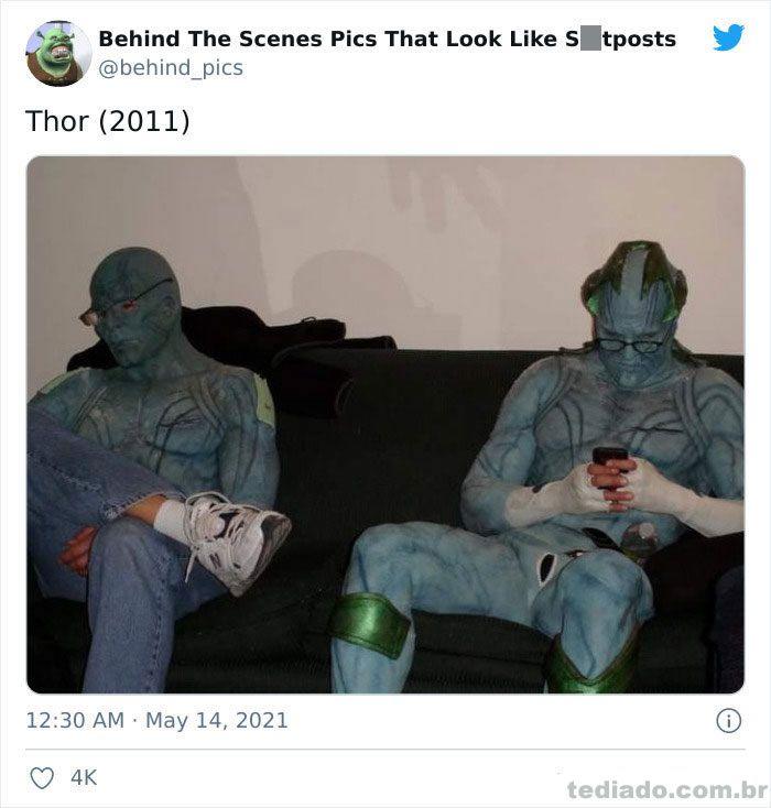 Esta página do Twitter reúne fotos dos bastidores que parecem memes ruins (30 fotos) 22