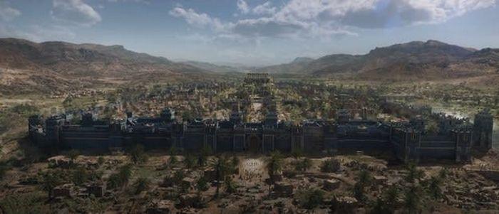 Estas imagens são do filme Os Eternos ou da novela Gênesis 15