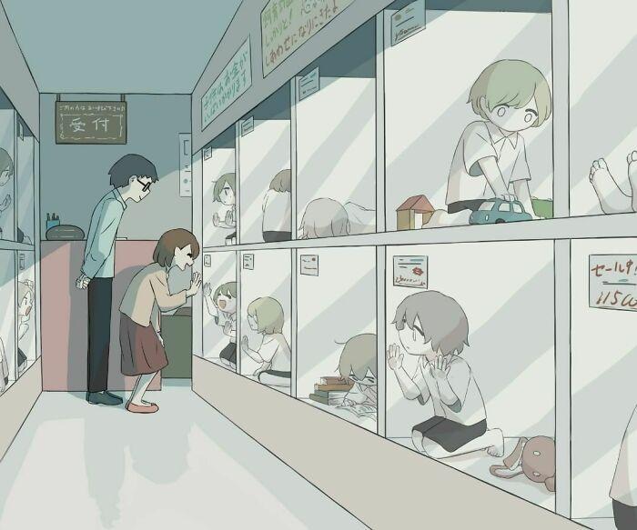 40 ilustrações poderosas de um artista japonês que o farão pensar 5