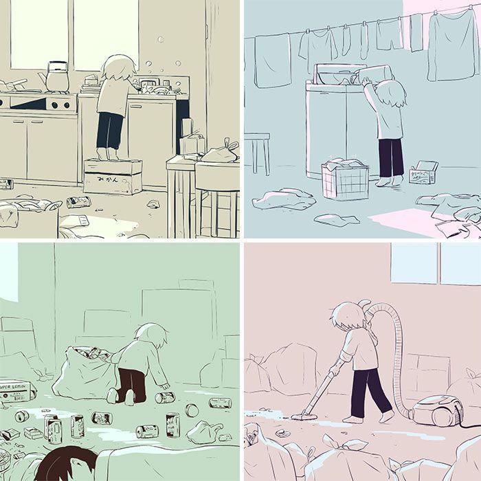 40 ilustrações poderosas de um artista japonês que o farão pensar 7