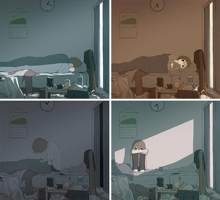 40 ilustrações poderosas de um artista japonês que o farão pensar 14
