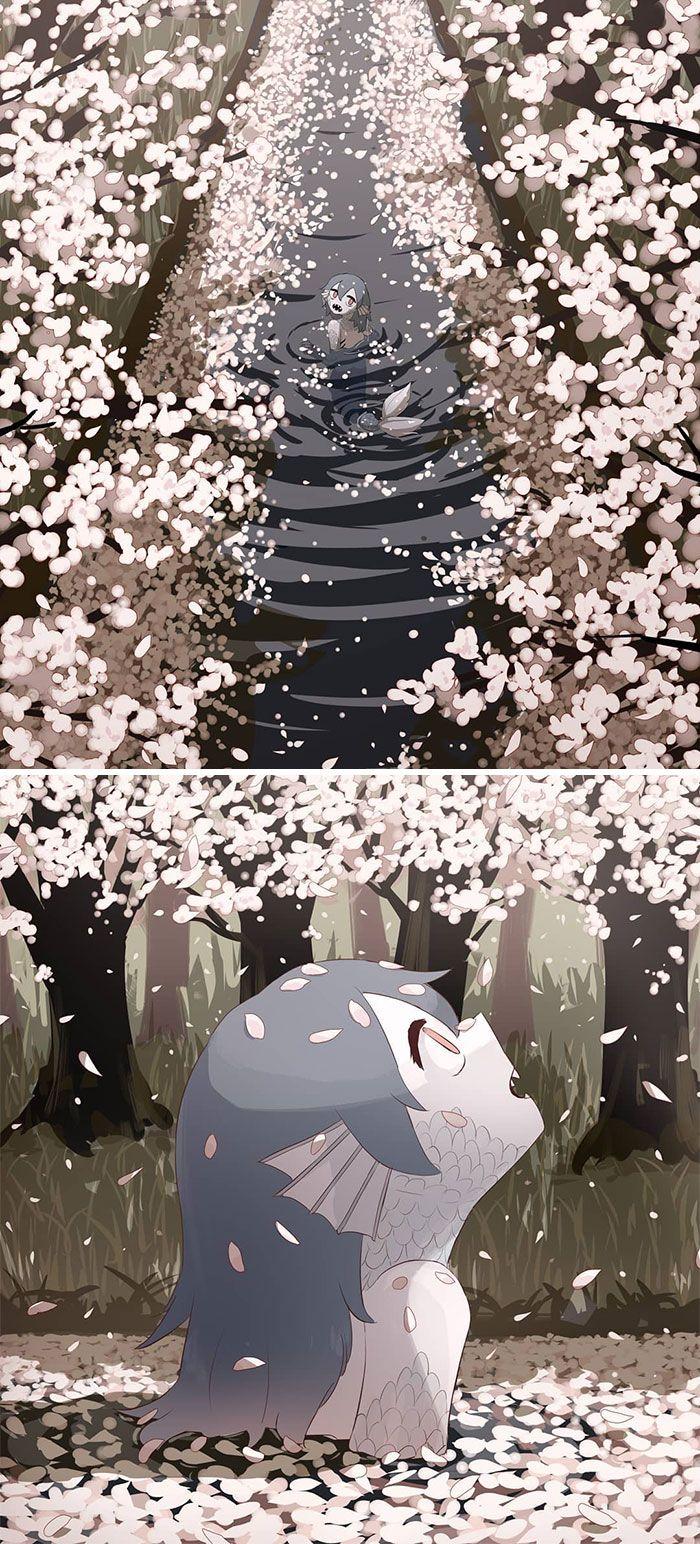 40 ilustrações poderosas de um artista japonês que o farão pensar 15