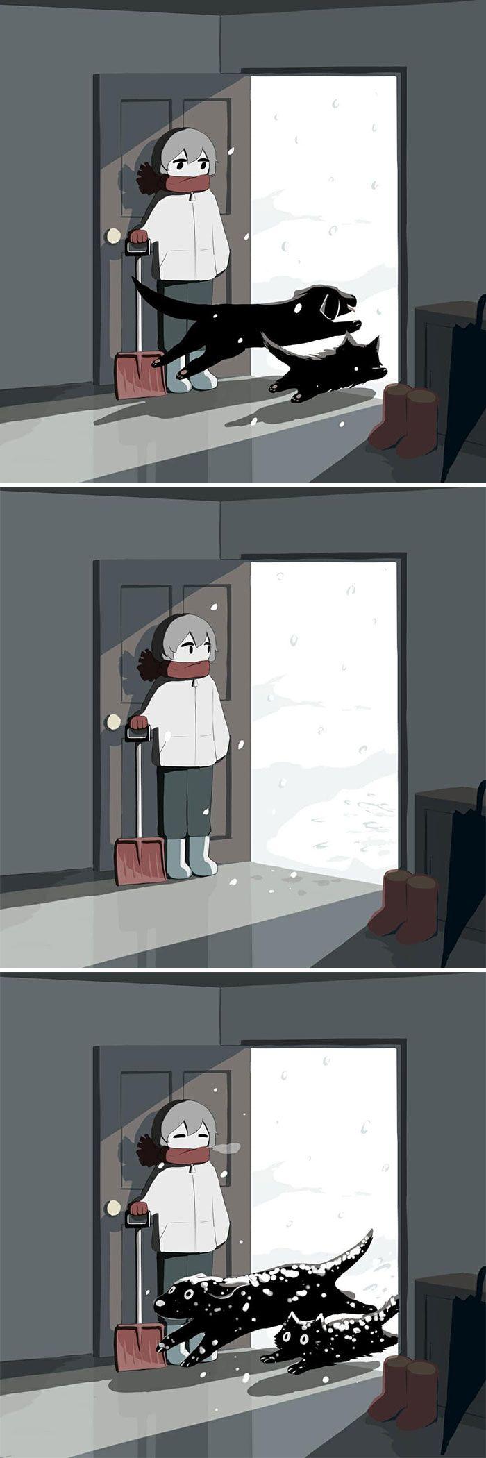 40 ilustrações poderosas de um artista japonês que o farão pensar 19