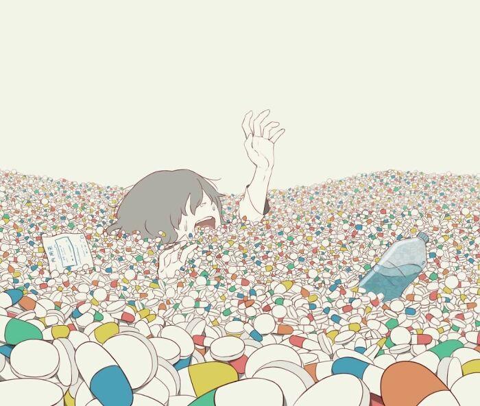 40 ilustrações poderosas de um artista japonês que o farão pensar 28