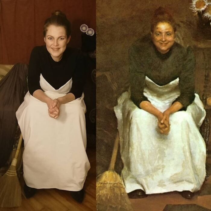 Mulher recria obras de arte com detalhes incríveis (42 fotos) 5