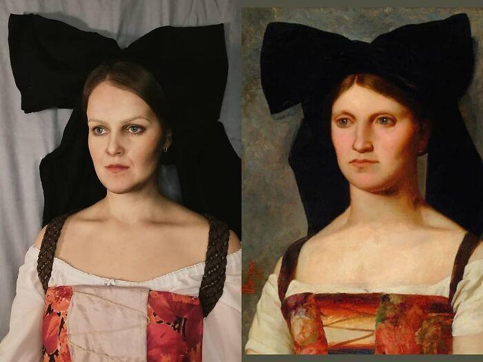 Mulher recria obras de arte com detalhes incríveis (42 fotos) 6