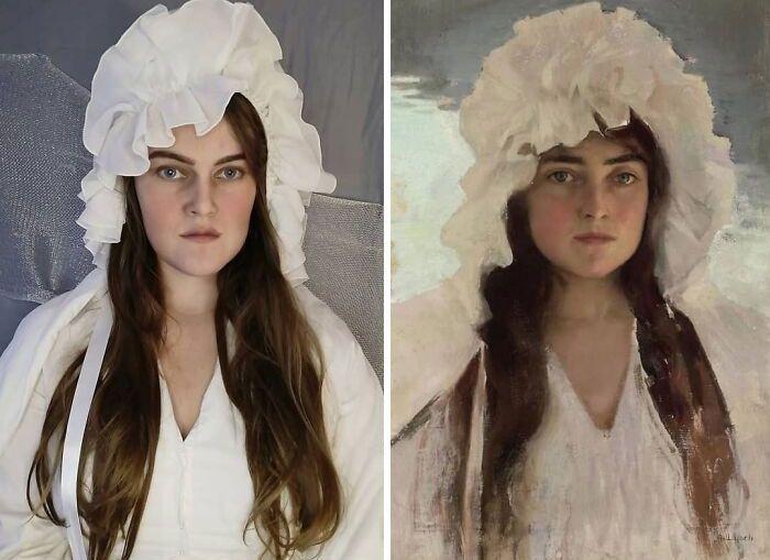 Mulher recria obras de arte com detalhes incríveis (42 fotos) 15
