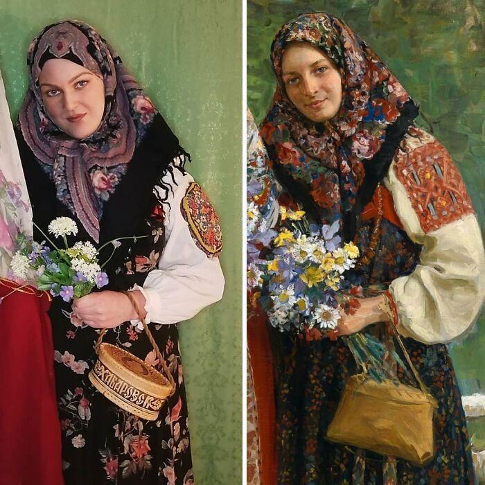 Mulher recria obras de arte com detalhes incríveis (42 fotos) 16
