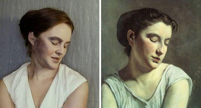Mulher recria obras de arte com detalhes incríveis (42 fotos) 18