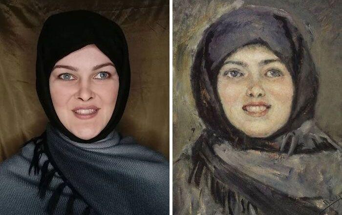 Mulher recria obras de arte com detalhes incríveis (42 fotos) 21
