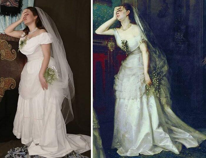 Mulher recria obras de arte com detalhes incríveis (42 fotos) 24