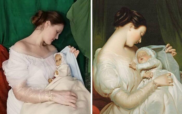 Mulher recria obras de arte com detalhes incríveis (42 fotos) 25