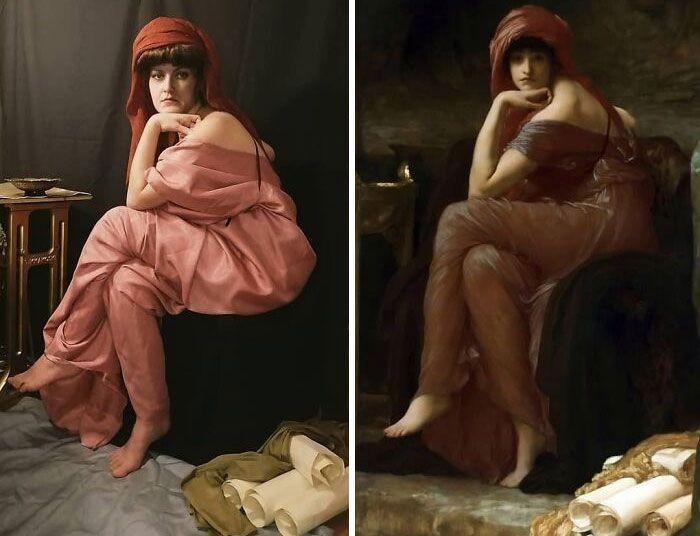 Mulher recria obras de arte com detalhes incríveis (42 fotos) 33