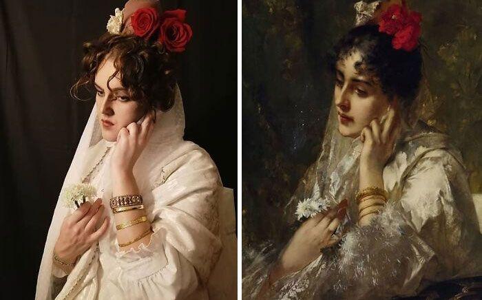 Mulher recria obras de arte com detalhes incríveis (42 fotos) 39