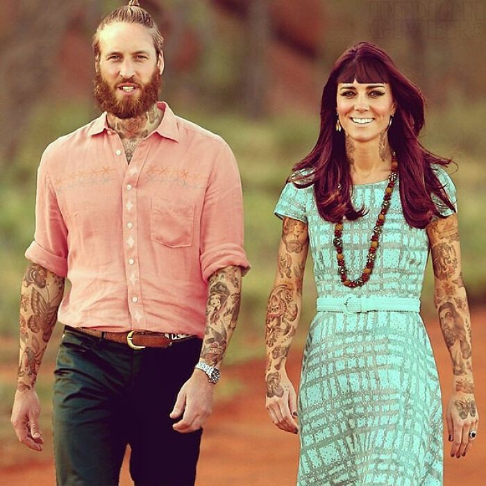 Qual seria a aparência de 48 celebridades se tivessem tatuagens legais 4
