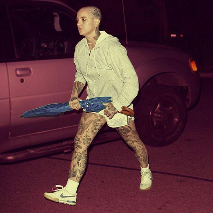 Qual seria a aparência de 48 celebridades se tivessem tatuagens legais 7