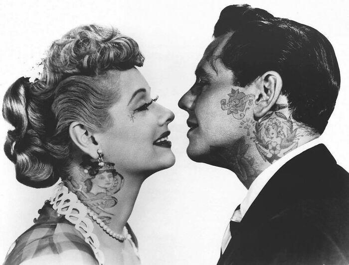 Qual seria a aparência de 48 celebridades se tivessem tatuagens legais 26