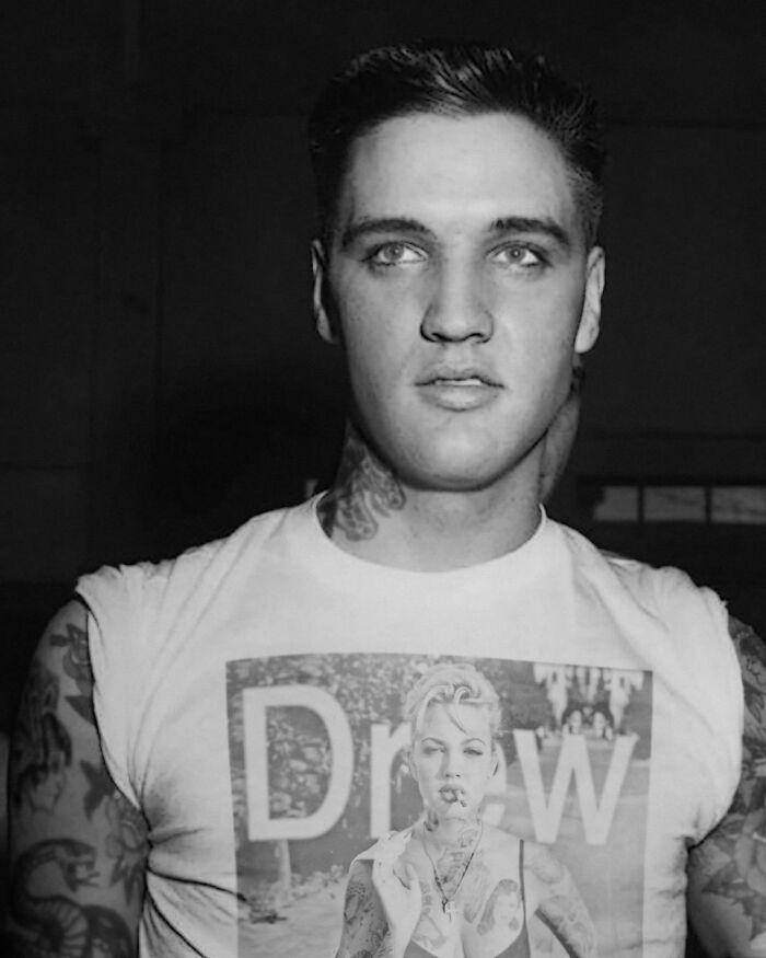Qual seria a aparência de 48 celebridades se tivessem tatuagens legais 38