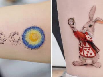 39 tatuagens detalhadas de personagens e pinturas populares de Hanak Adik 46