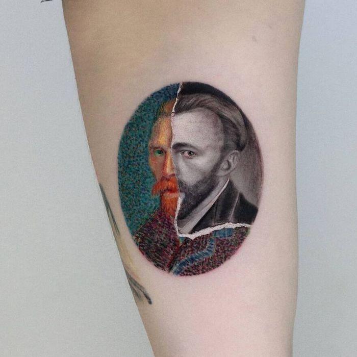 39 tatuagens detalhadas de personagens e pinturas populares de Hanak Adik 6