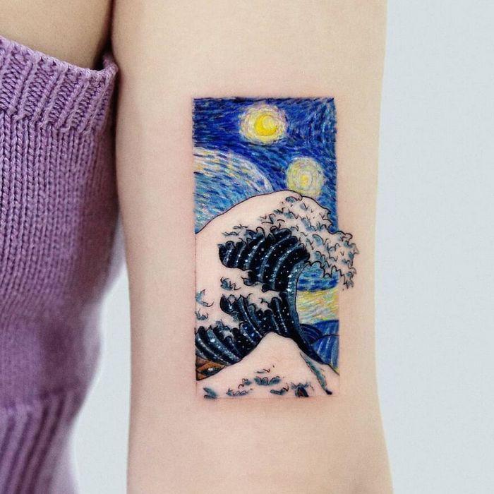 39 tatuagens detalhadas de personagens e pinturas populares de Hanak Adik 20