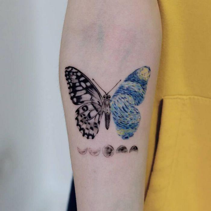 39 tatuagens detalhadas de personagens e pinturas populares de Hanak Adik 29