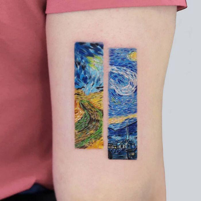 39 tatuagens detalhadas de personagens e pinturas populares de Hanak Adik 36