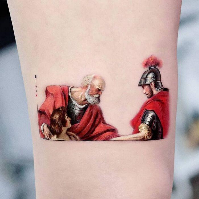 39 tatuagens detalhadas de personagens e pinturas populares de Hanak Adik 40