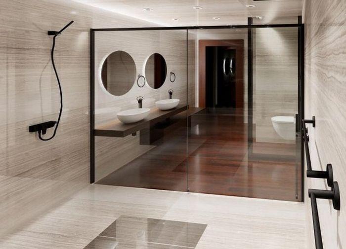 17 banheiros que dão a chance de admirar a paisagem 7