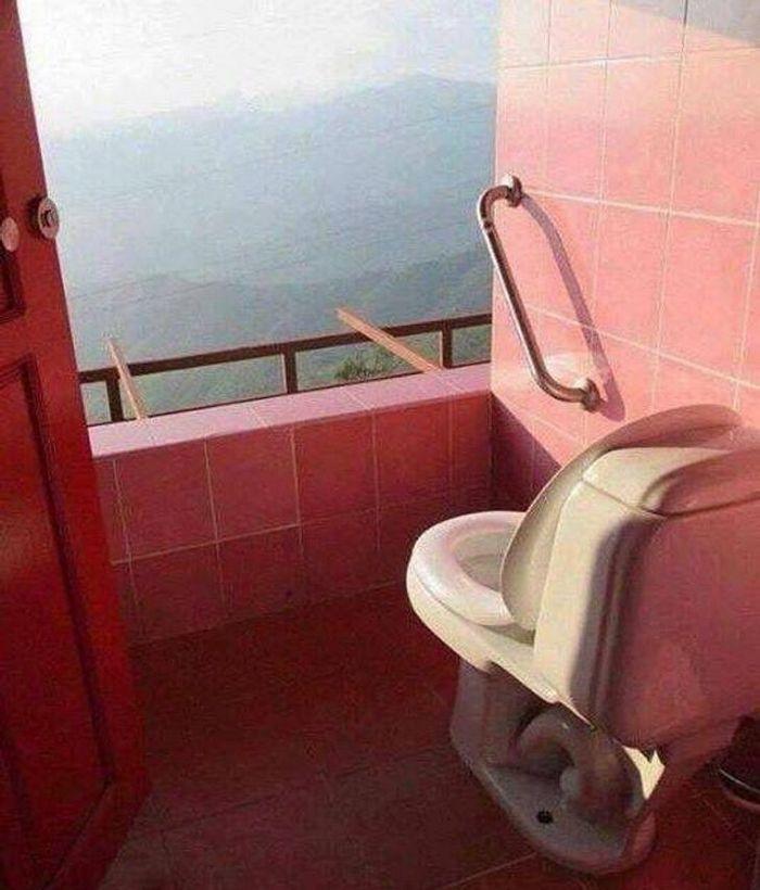 17 banheiros que dão a chance de admirar a paisagem 10