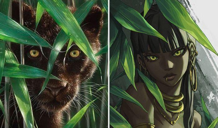 Este artista usa animais como inspiração para criar personagens originais de anime (23 fotos) 2