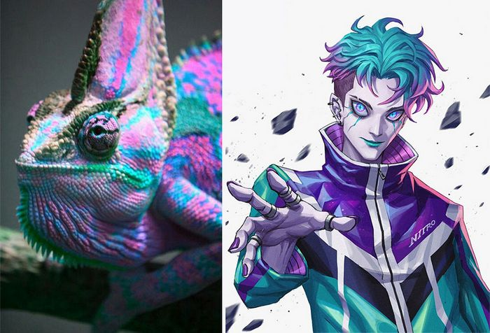 Este artista usa animais como inspiração para criar personagens originais de anime (23 fotos) 3