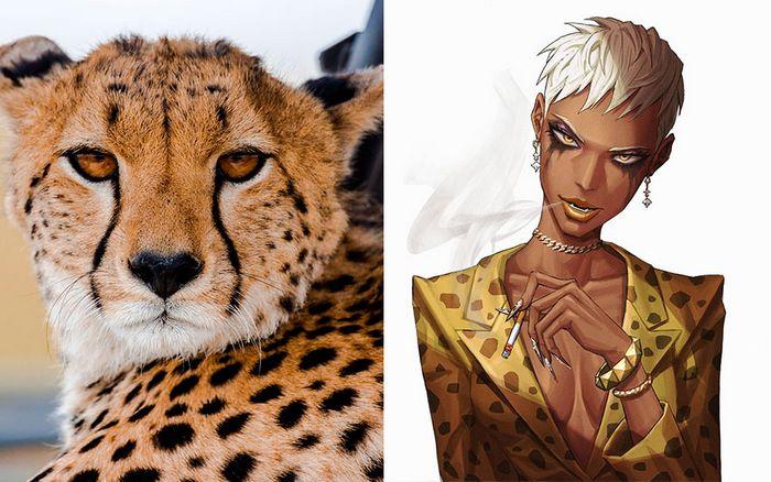 Este artista usa animais como inspiração para criar personagens originais de anime (23 fotos) 5