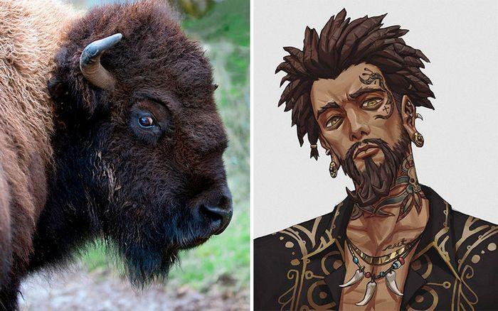 Este artista usa animais como inspiração para criar personagens originais de anime (23 fotos) 8