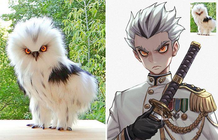 Este artista usa animais como inspiração para criar personagens originais de anime (23 fotos) 14