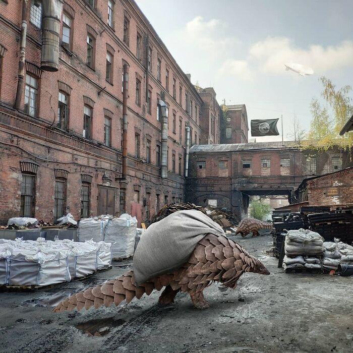 30 montagem de fotos inesperadas com animais gigantes por Vadim Solovyev 9