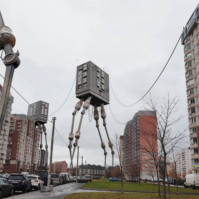30 montagem de fotos inesperadas com animais gigantes por Vadim Solovyev 20