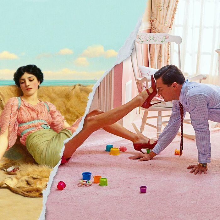 O que acontece quando você combina pinturas famosas e cultura pop (42 fotos) 25