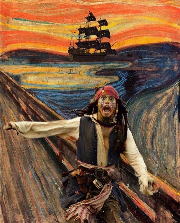 O que acontece quando você combina pinturas famosas e cultura pop (42 fotos) 30